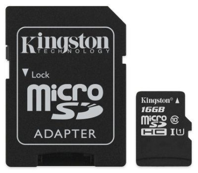 CARTÃO MICRO SD 16GB KINGSTON SDCS/16GB CLASSE 10 ORIGINAL C/ ADAPTADOR