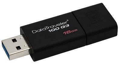 PEN DRIVE 16GB USB 3.0 KINGSTON DT100G3/16GB ORIGINAL