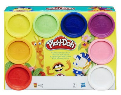MASSINHA PLAY-DOH KIT ARCO-ÍRIS 8 POTES HASBRO A7923