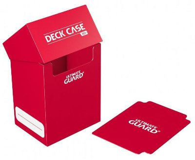 DECK BOX PORTA CARTAS ULTIMATE GUARD VERMELHO P/ YU-GI-OH! POKÉMON MAGIC