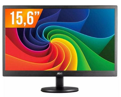 MONITOR LED 15,6 POLEGADAS AOC E1670SWU/WM WIDESCREEN VGA 1366 X 768