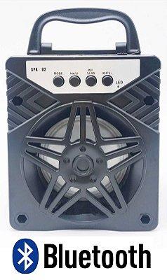 CAIXA DE SOM PORTÁTIL 5W BLUETOOTH MP3 PEN DRIVE SPK-02 PRETA