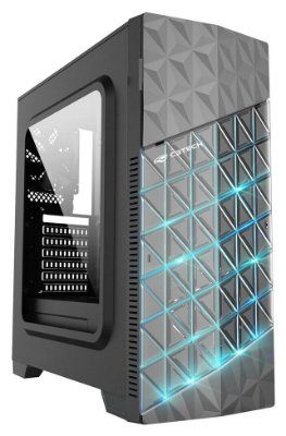 GABINETE GAMER C3TECH MT-G750BK LED RGB 2 COOLER LATERAL DE ACRÍLICO USB 3.0