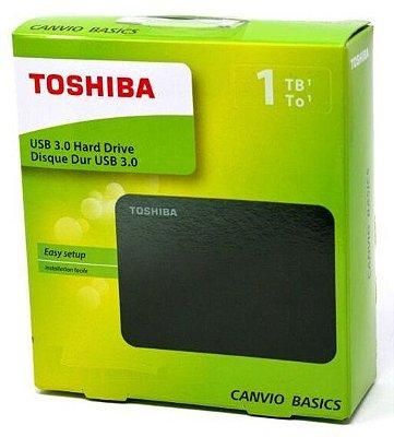 HD EXTERNO PORTÁTIL 1TB USB 3.0 TOSHIBA CANVIO BASICS WINDOWS 10