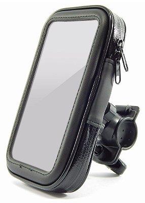 SUPORTE CASE DE CELULAR GPS P/ MOTO BICICLETA IMPERMEÁVEL EXBOM SPC20S