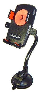 SUPORTE UNIVERSAL DE CELULAR GPS PARA CARRO VEICULAR EXBOM SP-T24