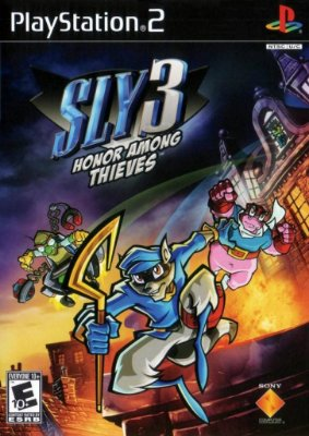 SLY 3 HONOR AMONG THIEVES PS2 NOVO LACRADO BLACK LABEL