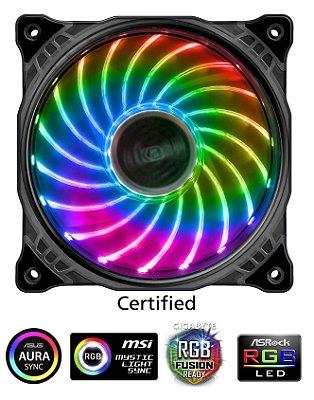 COOLER P/ GABINETE 12CM LED RGB AKASA VEGAS X7 AK-FN093