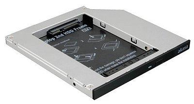 CASE ADAPTADOR DE HD SSD PARA BAIA DE DVD EM NOTE AKASA N.STOR S9