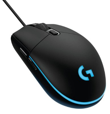 MOUSE GAMER LOGITECH G203 PRODIGY 6 BOTÕES 8.000 DPI LED RGB MACRO WINDOWS 10