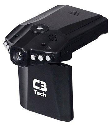 CÂMERA E FILMADORA VEICULAR C3TECH CV303BK HD 720P INFRAVERMELHO TELA LCD