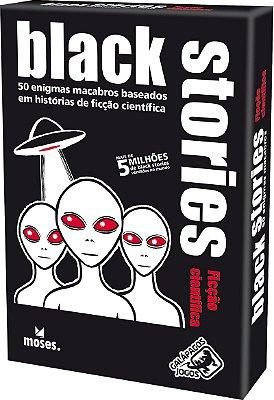 BLACK STORIES FICÇÃO CIENTÍFICA GALÁPAGOS JOGO DE CARTAS LACRADO
