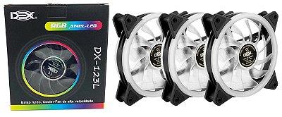 KIT RGB 3 COOLER 12 CM + FITA DE LED DEX DX-123L