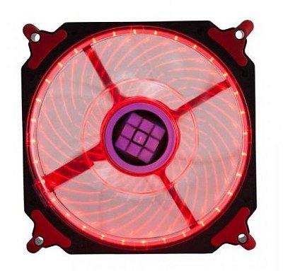 COOLER FAN 12CM 120MM LED VERMELHO DEX DX-12H 32 LEDS