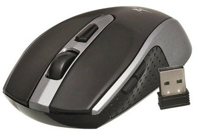 MOUSE WIRELESS SEM FIO KNUP G20 CINZA