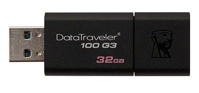 PEN DRIVE 32GB USB 3.1 KINGSTON DT100G3/32GB ORIGINAL