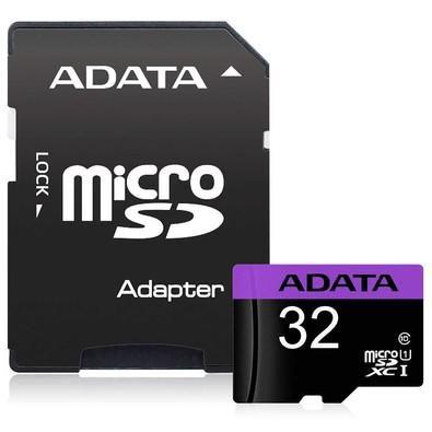 CARTÃO MICRO SD 32GB ADATA AUSDH32GUICL10-RA1 CLASSE 10 ORIGINAL C/ ADAPTADOR