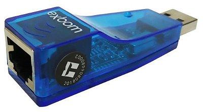 ADAPTADOR PLACA DE REDE USB PARA RJ45 EXBOM UL-100