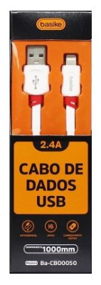 CABO USB 2.4A CARGA RAPIDA LIGHTNING IPHONE 1 METRO BASIKE BA-CB00050