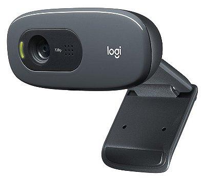 WEBCAM 720P LOGITECH C270 HD C/ MICROFONE INTEGRADO WINDOWS 10