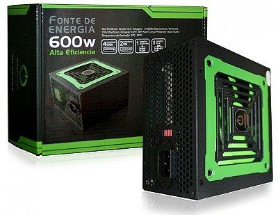 FONTE 600W REAL ONE POWER MP600W3-I BIVOLT COM CONECTOR PCI-E