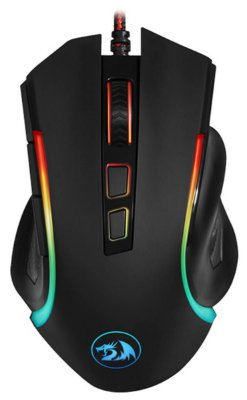 MOUSE GAMER REDRAGON GRIFFIN LED RGB MACRO 7200 DPI