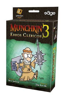 MUNCHKIN 3 ERROS CLÉRICOS EXPANSÃO JOGO DE CARTAS LACRADO