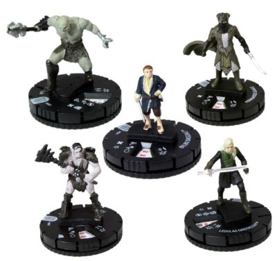 5 MINIATURAS HEROCLIX THE HOBBIT THE BATTLE OF THE FIVE ARMS INGLÊS NOVOS