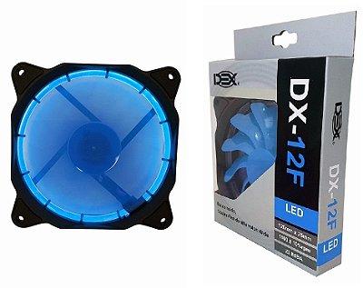 COOLER LED AZUL 12CM P/ GABINETE DEX DX-12F