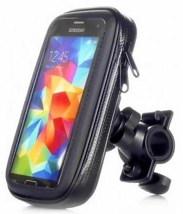 SUPORTE CASE DE CELULAR GPS P/ MOTO BICICLETA IMPERMEÁVEL EXBOM SP-C20L