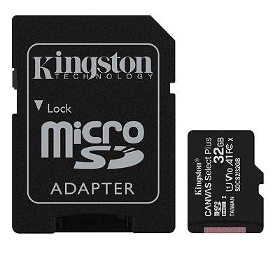 CARTÃO DE MEMÓRIA MICRO SD 32GB CLASSE 10 KINGSTON SDCS2/32GB