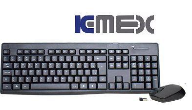 KIT TECLADO MOUSE SEM FIO WIRELESS K-MEX KA-S229+MA-A733