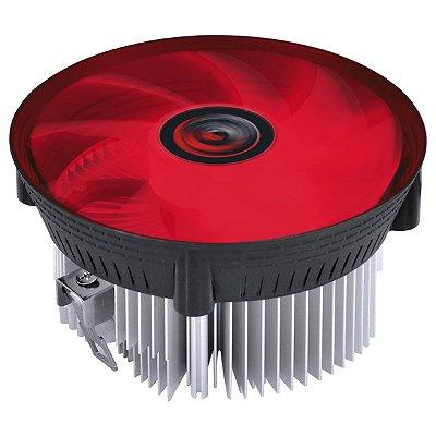 COOLER PROCESSADOR GAMER AMD PCYES NÓTUS A LED VERMELHO AM4 AM3+ AM3 AM2+ FM2