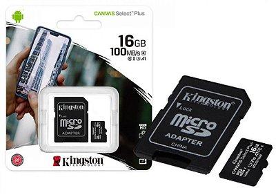 CARTÃO DE MEMÓRIA MICRO SD 16GB CLASSE 10 KINGSTON SDCS2/16GB