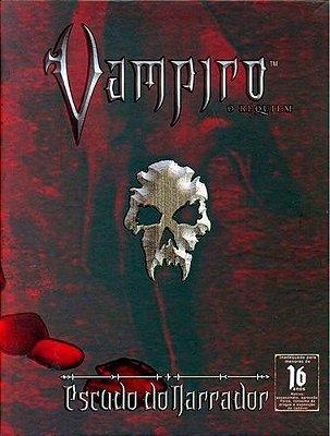 VAMPIRO O RÉQUIEM ESCUDO DO NARRADOR LIVRO RPG DEVIR LACRADO