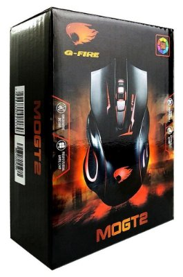 MOUSE GAMER G-FIRE MOGT2 LED 7 CORES 2400 DPI 6 BOTÕES