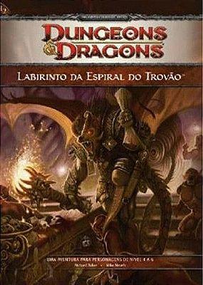 LIVRO RPG LABIRINTO DA ESPIRAL DO TROVÃO DUNGEONS & DRAGONS DEVIR LACRADO