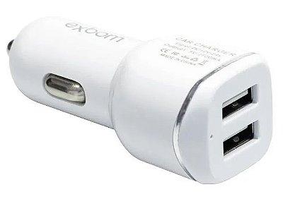 CARREGADOR CELULAR VEICULAR AUTOMOTIVO 2 USB 2.1A EXBOM CA2U-B14