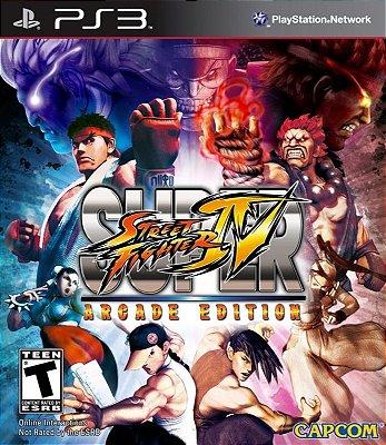 SUPER STREET FIGHTER 4 ARCADE EDITION PS3 NOVO LACRADO