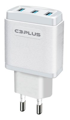 CARREGADOR TURBO 3 PORTAS USB 3.1A C3PLUS UC-30WHX BIVOLT