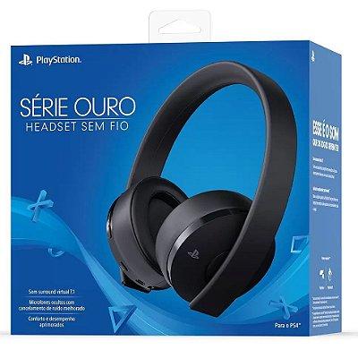 HEADSET SEM FIO SONY SERIE OURO COMPATÍVEL PS4 E PLAYSTATION VR
