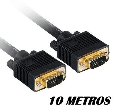 CABO VGA 10 METROS PLUS CABLE PC-MON10001 BLINDADO COM FILTRO
