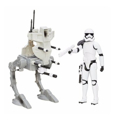 STAR WARS ASSAULT WALKER VEICULO COM FIGURA 44 CENTIMETROS HASBRO