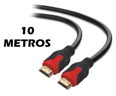 CABO HDMI 2.0 10 METROS PLUS CABLE PC-HDMI100M CONECTOR GOLD 4K 3D