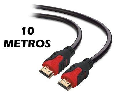 CABO HDMI 2.0 10 METROS PLUS CABLE PC-HDMI100M CONECTOR GOLD 4K 3D