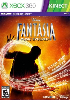 DISNEY FANTASIA MUSIC EVOLVED XBOX 360 NOVO LACRADO