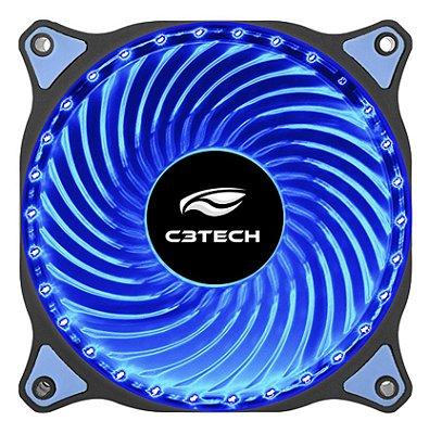COOLER FAN LED AZUL 12 CM C3TECH F7-L130BL P/ GABINETE 30 LEDS