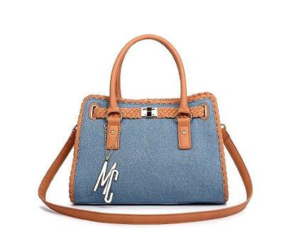 Bolsa Macadâmia - MCJ09044-08B - Azul Claro