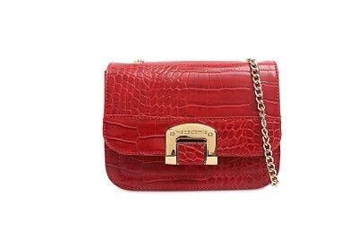 Bolsa Tiracolo Macadâmia - Vermelha - MCL04023-07A