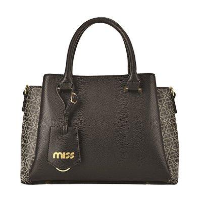 Bolsa da Linha Monograma - Miss by Queens Paris - Preto - MQB182101